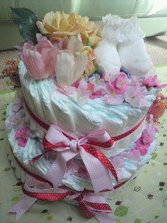 おむつケーキ。